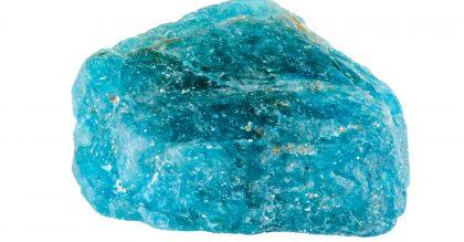 uncut blue apatite
