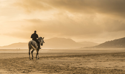 Sea View Villa Retreat with Sunset Beach Horse Riding for Two in Andalusia, Spain