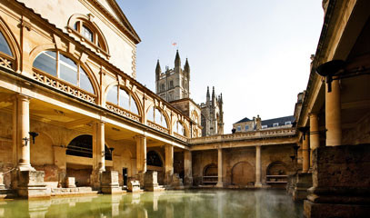 Aquae Sulis: Bath Getaway for Two with Private Tour of the Roman Baths