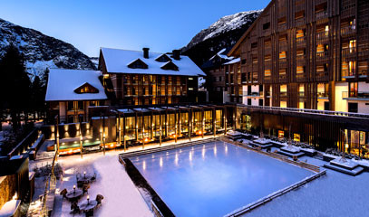 Alluringly Alpine: Five-Star Swiss Alps Spa Getaway for Two to the Chedi Andermatt