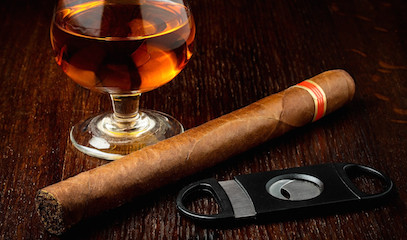 His Favourite Things: Four-Course Steak Meal and Cigar Experience for Two