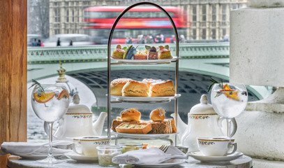 G&T On The Thames: Afternoon Tea With Bottomless G&T'S For Two People At Gillray's Bar