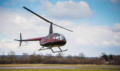 Skycrossed Lovers: Romantic Helicopter Flight for Two with Elstree Helicopters