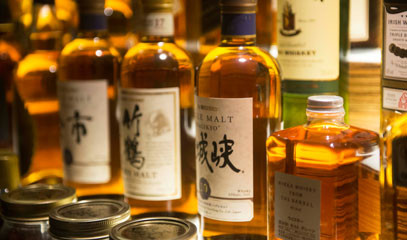 Pioneering Spirit: Premium Japanese Whisky Tasting Flight with Paired Sushi for Two at Kouzu
