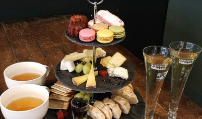 French Fancies: Vintage Champagne Afternoon Tea for Two at Champagne + Fromage