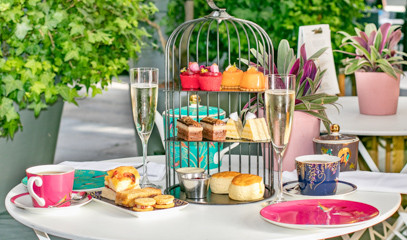 Time For Tea: Champagne Afternoon Tea For Two At The Den At St Martins Lane hotel