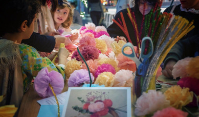 Kids Go Crazy Creative: Paper Flower Making Workshop For Six With Pom Pom Factory