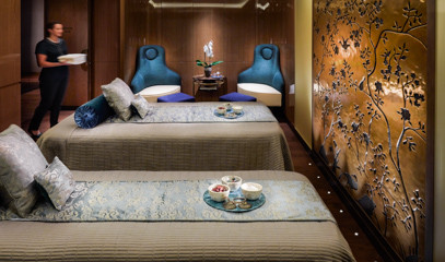 The Ultimate Couples Experience: Spa Day with Private Suite and Champagne for Two at The Spa At Mandarin Oriental