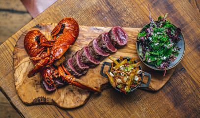 Och aye!: Premium Lobster & Steak Menu with Sparkling Wine For Two at Mac & Wild