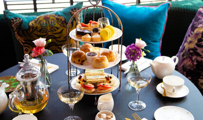 Teapots With A Twist: Champagne Afternoon Tea For Two At The Curtain
