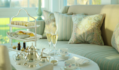 Georgian Grandeur: Coworth Park Afternoon Tea for Two with Champagne