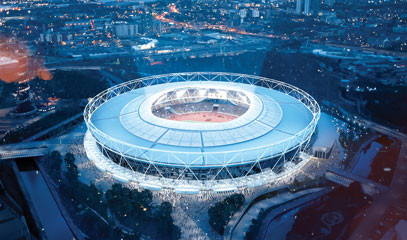 London Legacies: London Stadium Tour and Fine Dining with a View for Two