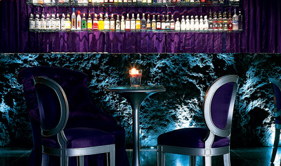 Behind the Velvet Curtain: Cocktails and Canapés for Two at the Sanderson's Purple Bar