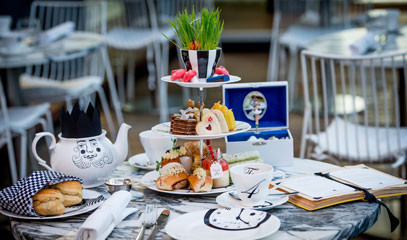 Journey into Wonderland: Mad Hatters Afternoon Tea for Two at the Five-Star Sanderson Hotel