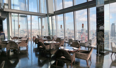Dine in the Sky: Three-Course Lunch Menu for Two at Aqua Shard