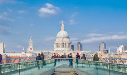 Domes and Foams: St Paul's Cathedral Tour and Michelin Star Lunch for Two