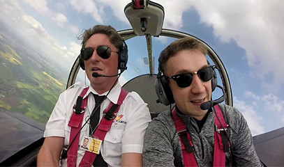 Daredevil's Day Out: Aerobatics Loop The Loop For One With Almat Flying Academy