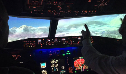 Ground Control: Flight Simulator Experience for One with Virtual Aerospace