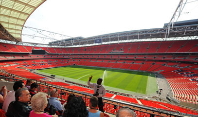 Home of English Football: Wembley Stadium Tour and Innovative British Dining for Two