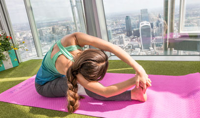 Sky High Yoga: Public Yoga Class at The View from The Shard with Yogasphere