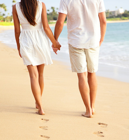 Romantic beach strolls, perfect weddings